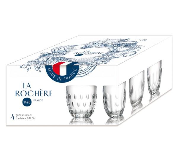 Wasser Becher La Rochere 4erSet Torquet